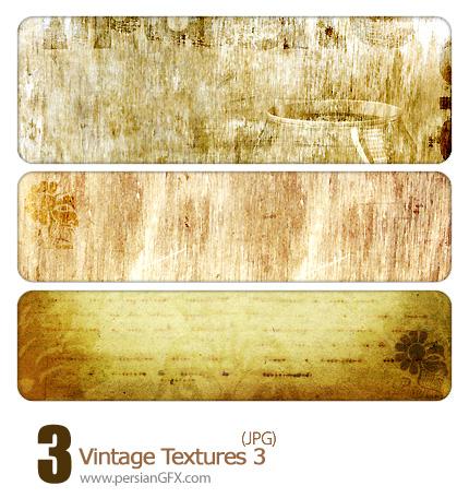 بافت کاغذ دیواری طرح دار شماره سه - Vintage Textures 03