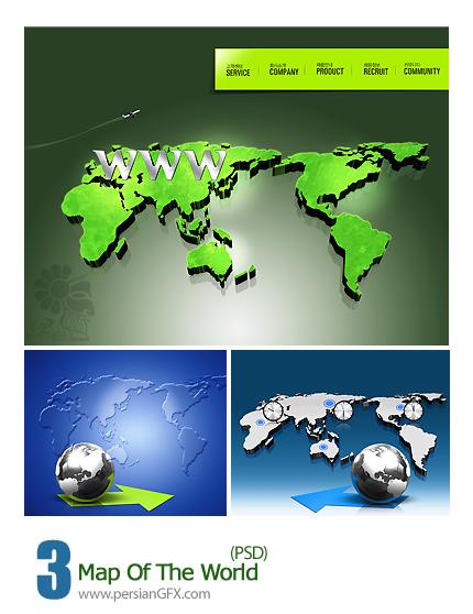تصاویر لایه باز نقشه جهان - Map Of The World