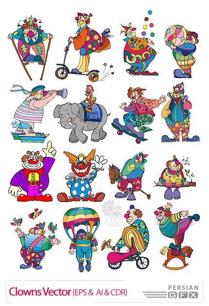 تصاویر وکتور دلقک ها - Clowns Vector