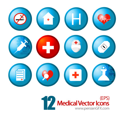 آیکون های وکتور پزشکی - Medical Vector Icons