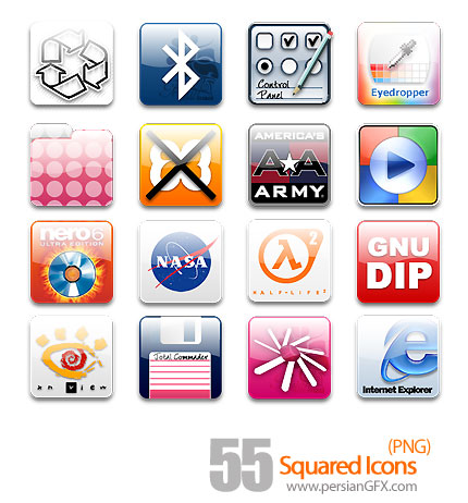 آیکون های مربع - Squared Icons