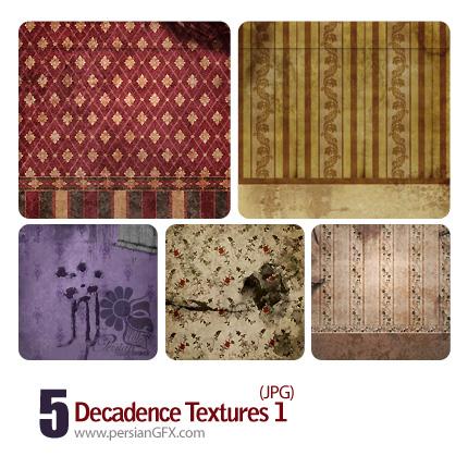 کاغذ دیواری فرسوده شماره یک - Decadence Textures 01