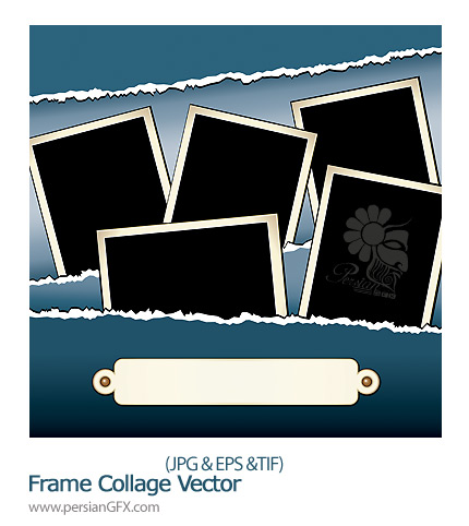 قاب وکتور کلاژ  - Frame Collage Vector