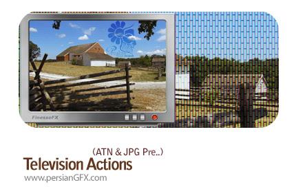 اکشن تلویزیون در فتوشاپ - Television Action