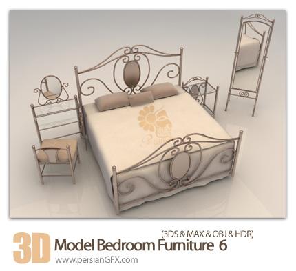 فایل های آماده سه بعدی، اتاق خواب زیبا شماره شش - 3D Model Bedroom 06