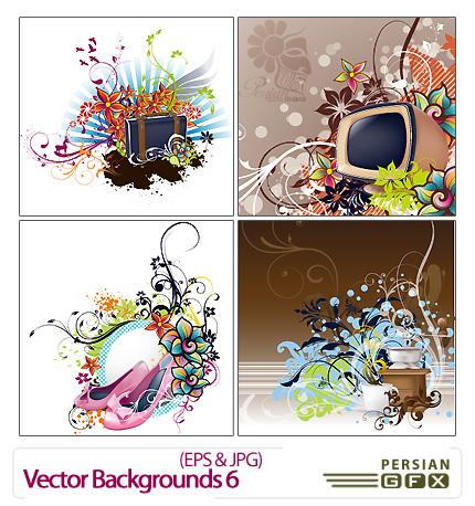 وکتور پس زمینه شماره شش - Vector Backgrounds 06