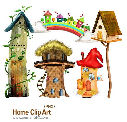 کلیپ آرت خانه های درختی - Home Clip Art