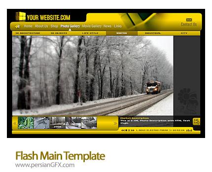 نمونه آماده وب سایت فلش گالری عکس - Flash Main Template