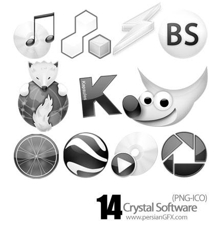 آیکون نرم افزار کریستال -Crystal Software Icon