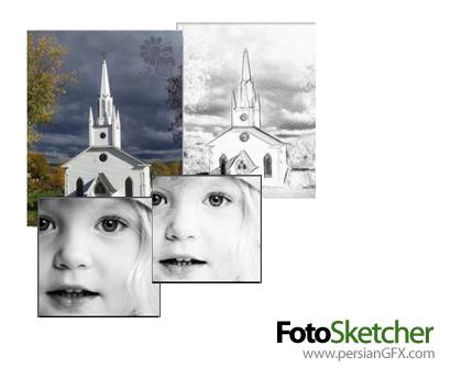 دانلود نرم افزار تبدیل عکس معمولی به نقاشی - FotoSketcher 2.42