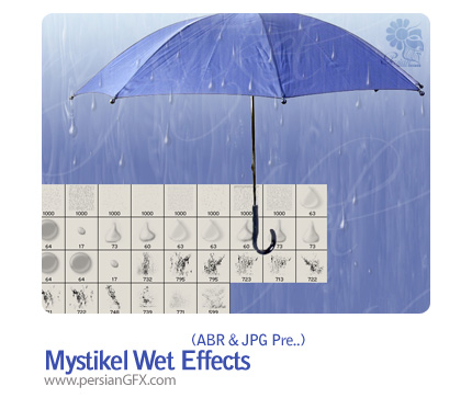 براش قطره آب - Mystikel Wet Effects Brushes