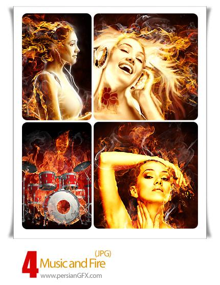 تصاویر موسیقی -Music and Fire
