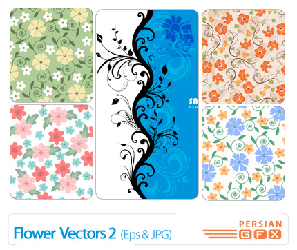 وکتور گل شماره دو - 02 Flower Vectors