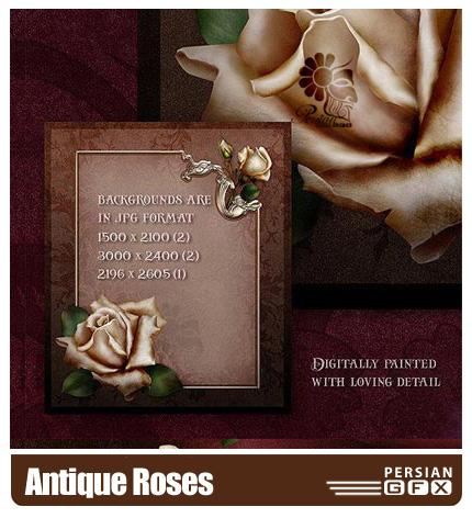 کلیپ آرت گل رز - Antique Roses