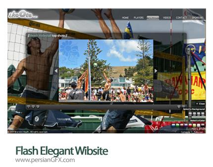 نمونه آماده وب سایت فلش گالری عکس - Flash Elegant Wibsite