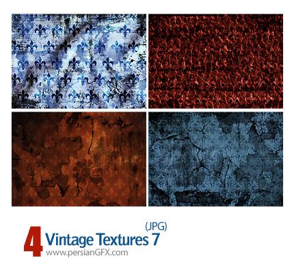 بافت کاغذ دیواری طرح دار شماره هفت - Vintage Textures 07