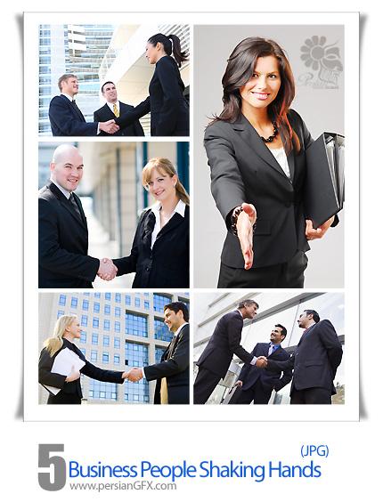 تصاویر مردم در تجارت، کارمند، دست دادن   - Business People Shaking Hands