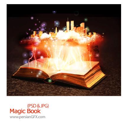تصویر لایه باز، ترکیبی، موسیقی، هنری، کتاب - Magic Book