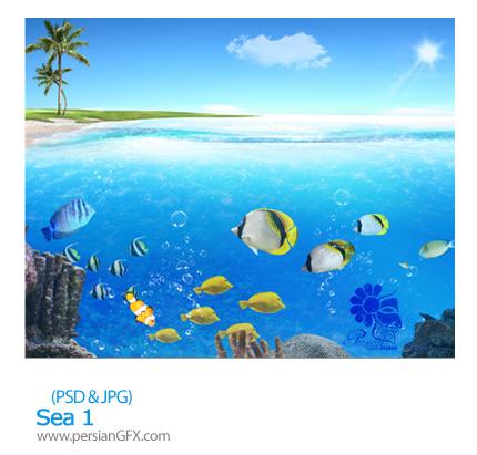 تصویر لایه باز، دریا، ماهی، ساحل شماره یک - Sea 01