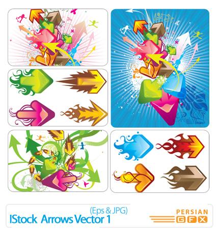تصاویر وکتور فلش، دیجیتالی، مدرن، رنگی  - IStock  Arrows Vector 01
