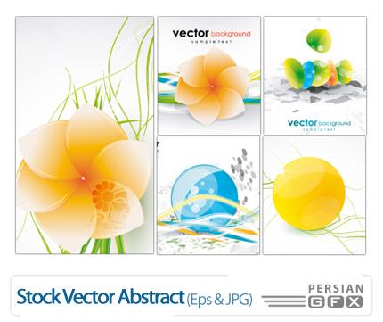 تصاویر وکتور بک گراند تزیینی، گلدار - Stock Vector Abstract
