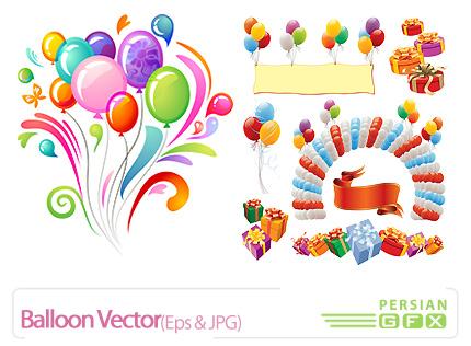 تصاویر وکتور بادکنک، بالون، تزیینی - Balloon Vector
