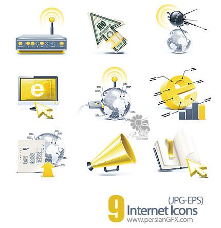 آیکون های وکتور اینترنت - Internet Icons