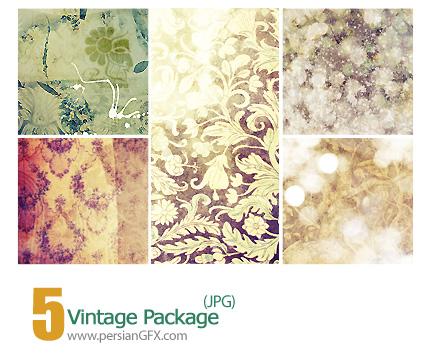 پترن های تزیینی، باف دار، کاغذ کادو، گلدار - Vintage Package