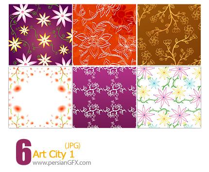 پترن های تزیینی، باف دار، کاغذ کادو، گلدار شماره یک - Art City 01