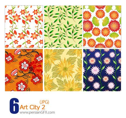 پترن های تزیینی، باف دار، کاغذ کادو، گلدار شماره دو - Art City 02
