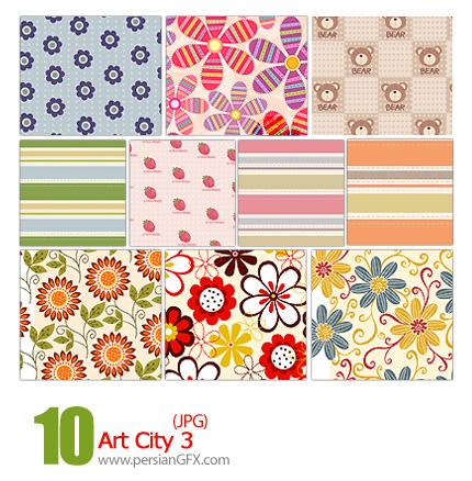پترن های تزیینی، باف دار، کاغذ کادو، گلدار شماره سه - Art City 03