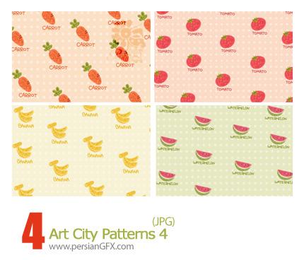 پترن های تزیینی، بافت دار، کاغذ کادو شماره چهار - Art City 04