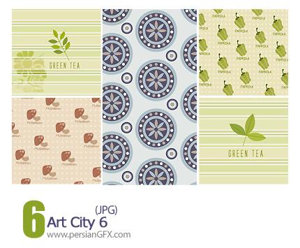 دانلود پترن های تزیینی، بافت دار، کاغذ کادو شماره شش - Art City 06