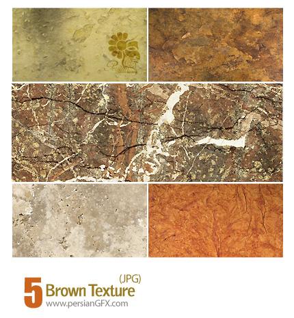 دانلود بافت قهوه ای، بافت سنگ - Brown Texture
