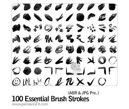 براش خطی  - 100 Essential Brush Strokes