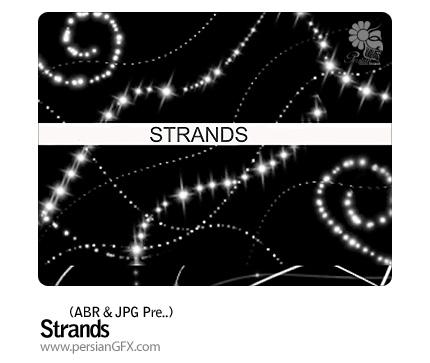 ایجاد رشته نورانی، ستاره، نقطه نورانی - Strands