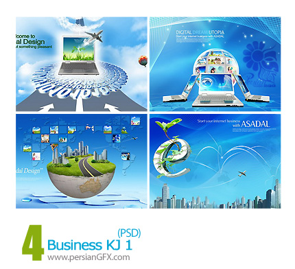 دانلود تصویر لایه باز، تبلیغاتی و تجاری، دیجیتال -01 Business KJ