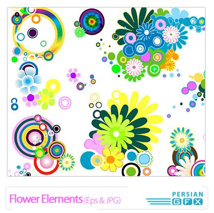 وکتور گل، شکوفه - Flower Elements