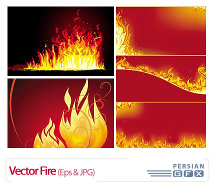 وکتور آتش، تصاویر قرمز رنگ - Vector Fire