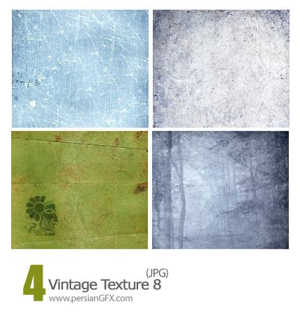 بافت کاغذ دیواری طرح دار شماره هشت - Vintage Textures 08