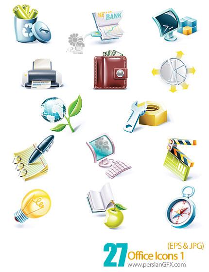 آیکون های وکتور اداری - Office Icons 01