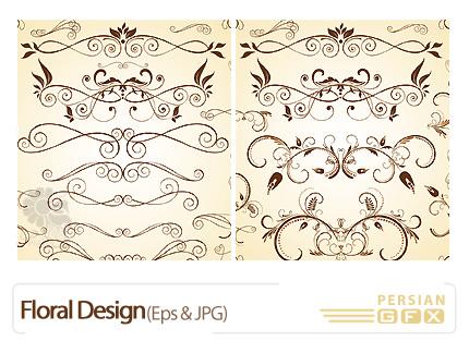 وکتور طرح گل  - Floral Design