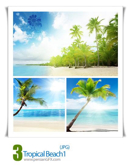 دانلود تصاویر ساحل مناطق گرمسیری، منظره، چشم انداز - Tropical Beach 01