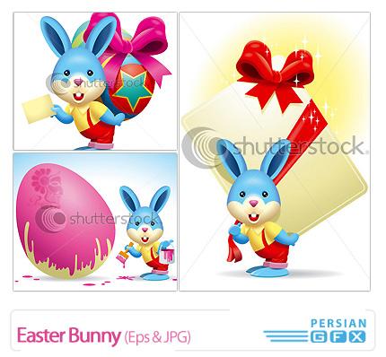 دانلود وکتور خرگوش، تصاویر فانتزی - Easter Bunny
