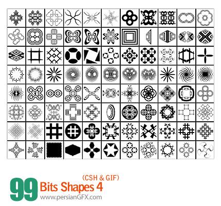 دانلود اشکال متنوع جذاب و جدید شماره چهار 99 - Bits Shapes 04