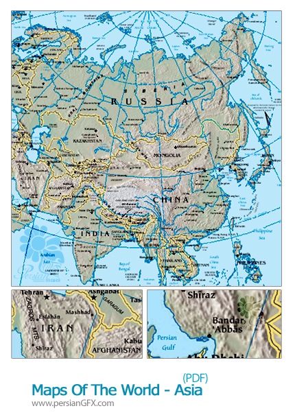 دانلود نقشه جغرافیای آسیا - Maps Of The World - Asia