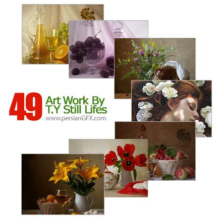 مجموعه آثار هنری، نقاشی طبیعت و طبیعت بیجان - Art Work By T.Y Still Lifes
