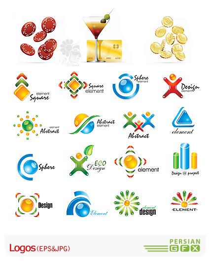 دانلود کلکسیون لوگوهای وکتور مدرن و فانتزی - Logos