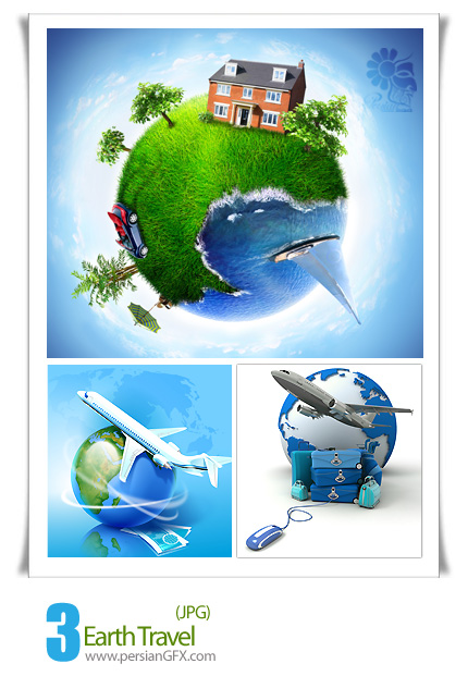 تصاویر مسافرت،مسافرت زمینی،هواپیما  - Earth Travel