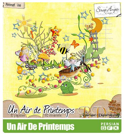 دانلود کلیپ آرت تصویر سازی، فانتزی -  Un Air De Printemps
